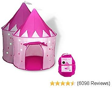 Extra 39% Off FoxPrint Princess Castle Play Tent with Glow in The Dark Stars