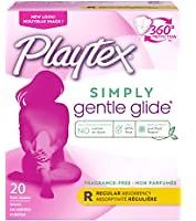 2-Pack Playtex Gentle Glide Tampons Regular, Unscented - 20 Count