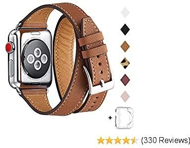 70% OFF Bestig Band Compatible for Apple Watch 38mm 40mm 42mm 44mm, Replacement Iwatch Strap for IWatch Series 5/4/3/2/1 (Brown