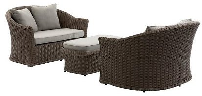 Belham Living Burchell All-Weather Wicker Outdoor Cuddle Daybed