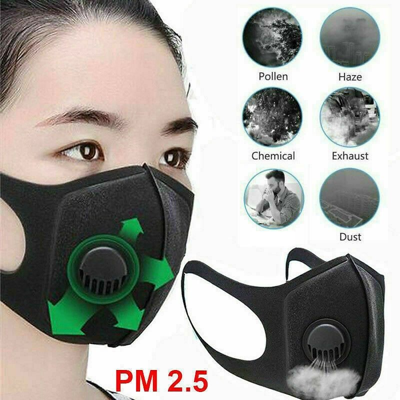 US $3.5 |Anti Droplet Dust Proof Washable Adjustable Face Cover Mouth Muffle Anti Dust W/ Breather Valve Reusable Breathable Made|Particle Respirators| - AliExpress