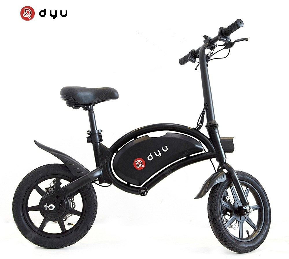 Dyu D3F Electric Bike 36V 10AH Battery Portable Folding Electric Moped Bicycle Maximum Speed 20kmh Sale, Price & Reviews | Gearbest