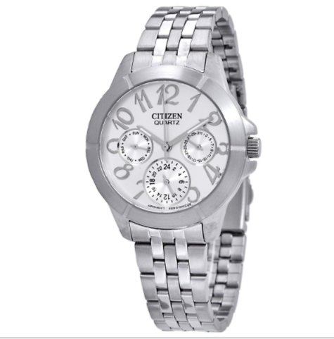 Citizen Silver Dial Multi-Function Silver Dial Ladies Watch ED8100-51A