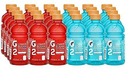 Gatorade Thirst Quencher, G2 Glacier Freeze and G2 Fruit Punch, 12 Ounce Bottles