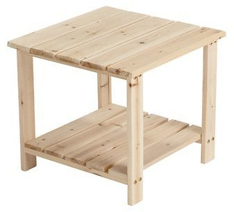 Stonegate Designs 2-Tier Wooden End Table — 20in.L X 20in.W X 18 1/8in.H, Model# CSN-TTET-1009 | Northern Tool
