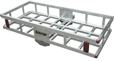Ultra-Tow Aluminum Hitch Cargo Carrier — 500-Lb. Capacity, Silver, 49in. X 22.5in. X 8in.H| Northern Tool