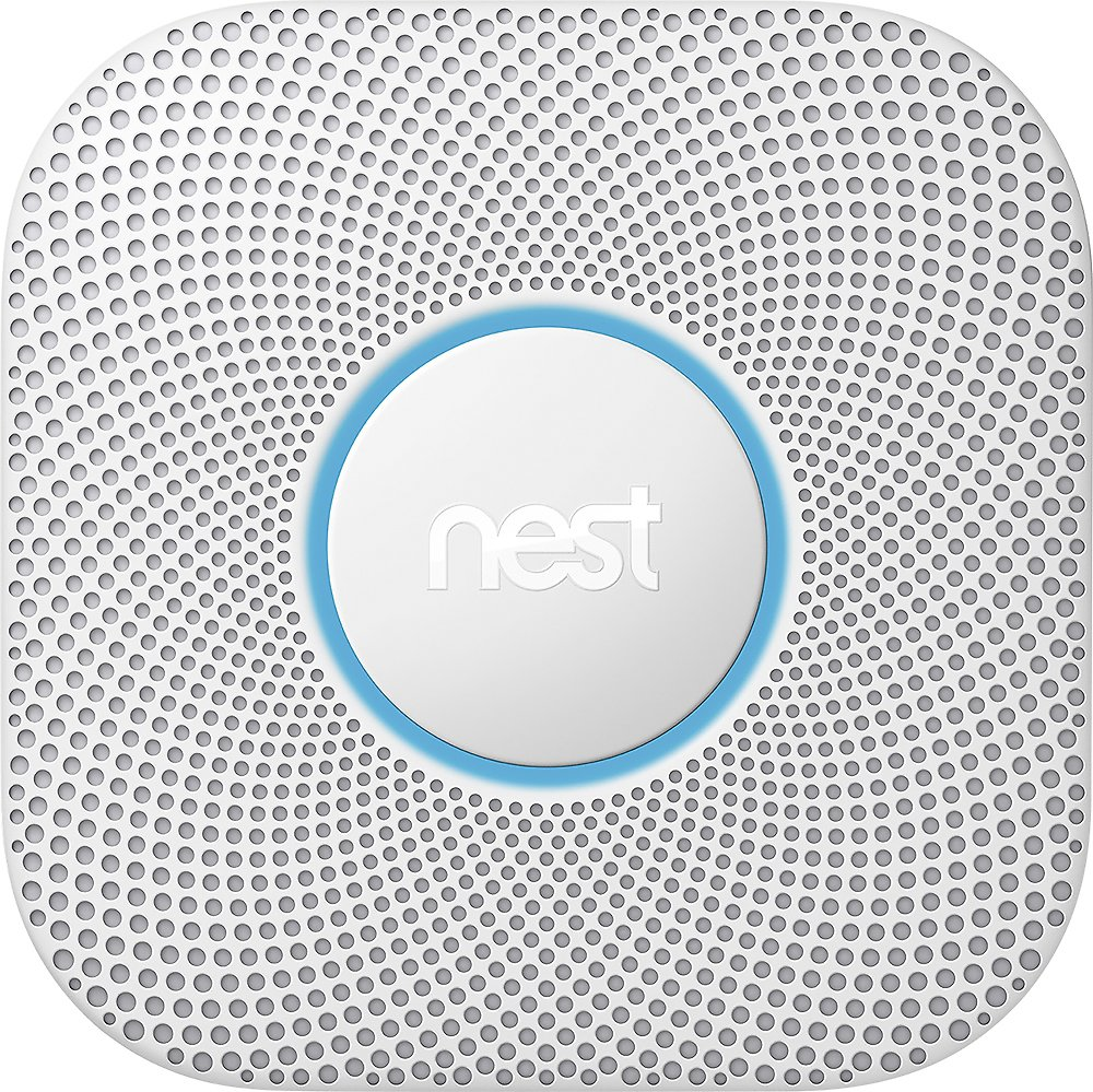 Google Nest Protect 2nd Generation Smart Smoke/Carbon Monoxide Wired Alarm White S3003LWES