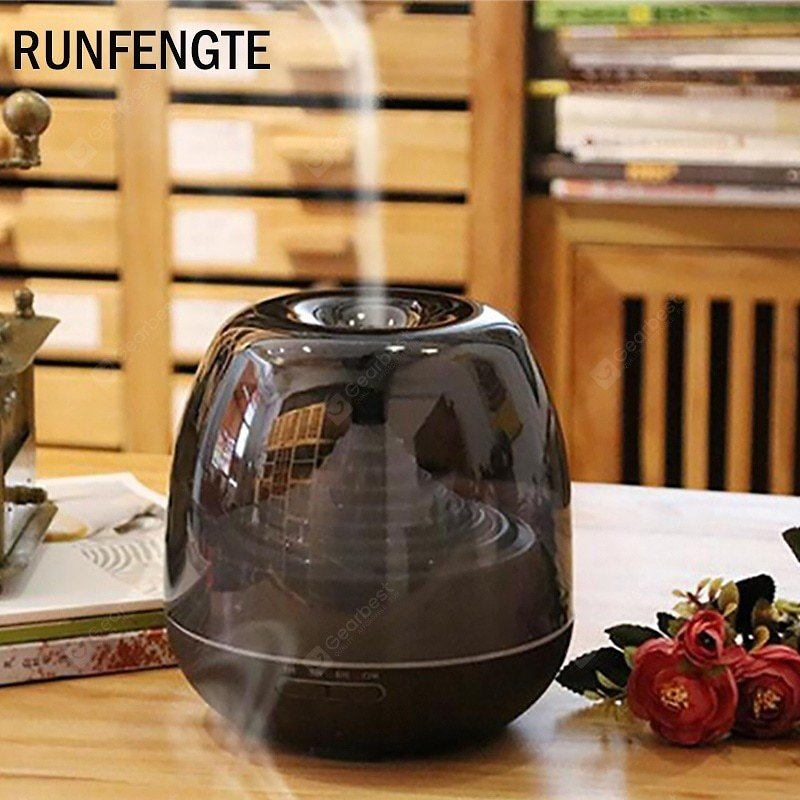 RUNFENGTE 500ml Aroma Diffuser Essential Oil Clear Air Humidifier With 7 Color Changing LED Lights Sale, Price & Reviews   Gearbest