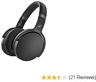 Sennheiser HD 450BT Bluetooth 5.0 Wireless Headphone with Active Noise Cancellation - 30-Hour Battery Life, USB-C Fast Charging, Virtual Assistant Button, Foldable - Black