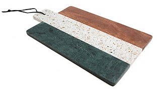 Thirstystone CLOSEOUT! Green Marble, Gold Brass, Terrazzo & Wood Paddle Board & Reviews - Serveware - Dining