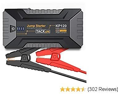 40% OFF TACKLIFE KP120 1200A Peak Car Jump Starter