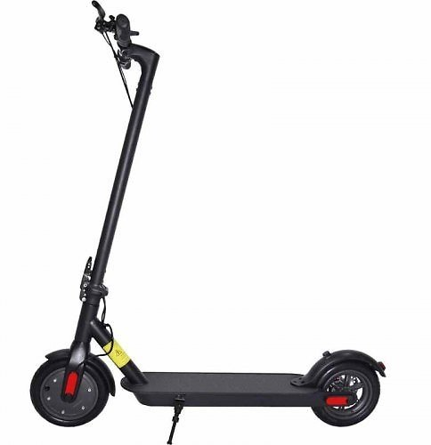 IDEAPLAY Folding Electric Scooter 12.5 Miles Range Up to 15.5 MPH 8.5 in Solid Tires with Disc Brake