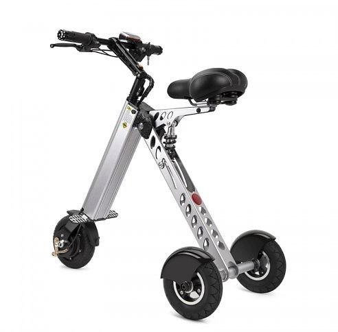 E30 Electric Aluminum Alloy Folding Tricycle Three Speed Regulation Load 100kg Electric Scooters - United States