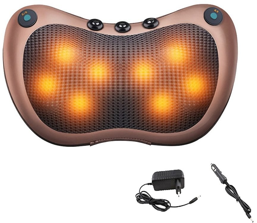Neck Massager for Neck Massage Pillow Electric Body Massager Head Back Massager for Face Foot Arm Heating Vibrator Car Home Use