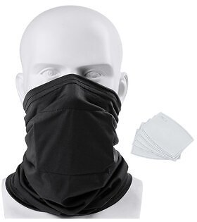Adult Face Mask With 5pcs PM2.5 Filters Tube Scarf Bandana