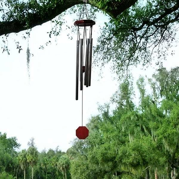 Evelots Large Silver Wind Chime-Outdoor-Indoor-Soothing-Relaxing-30 Inch Long - Set of 1