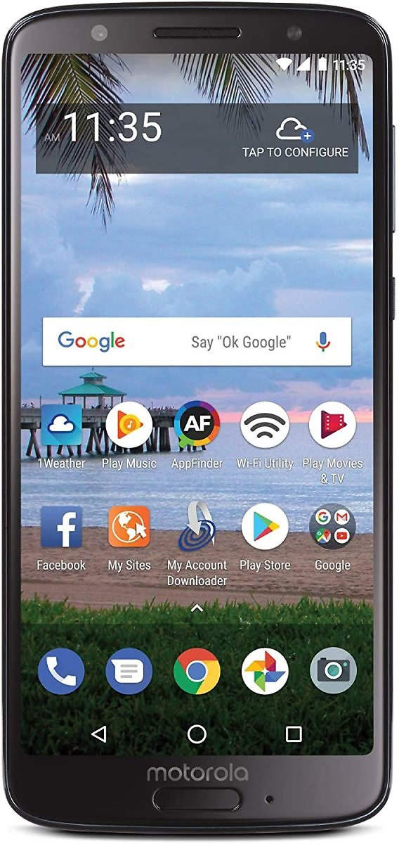 TracFone Motorola Moto G6 4G LTE Prepaid Smartphone (Locked) - Black - 16GB - Sim Card Included - CDMA (Renewed)
