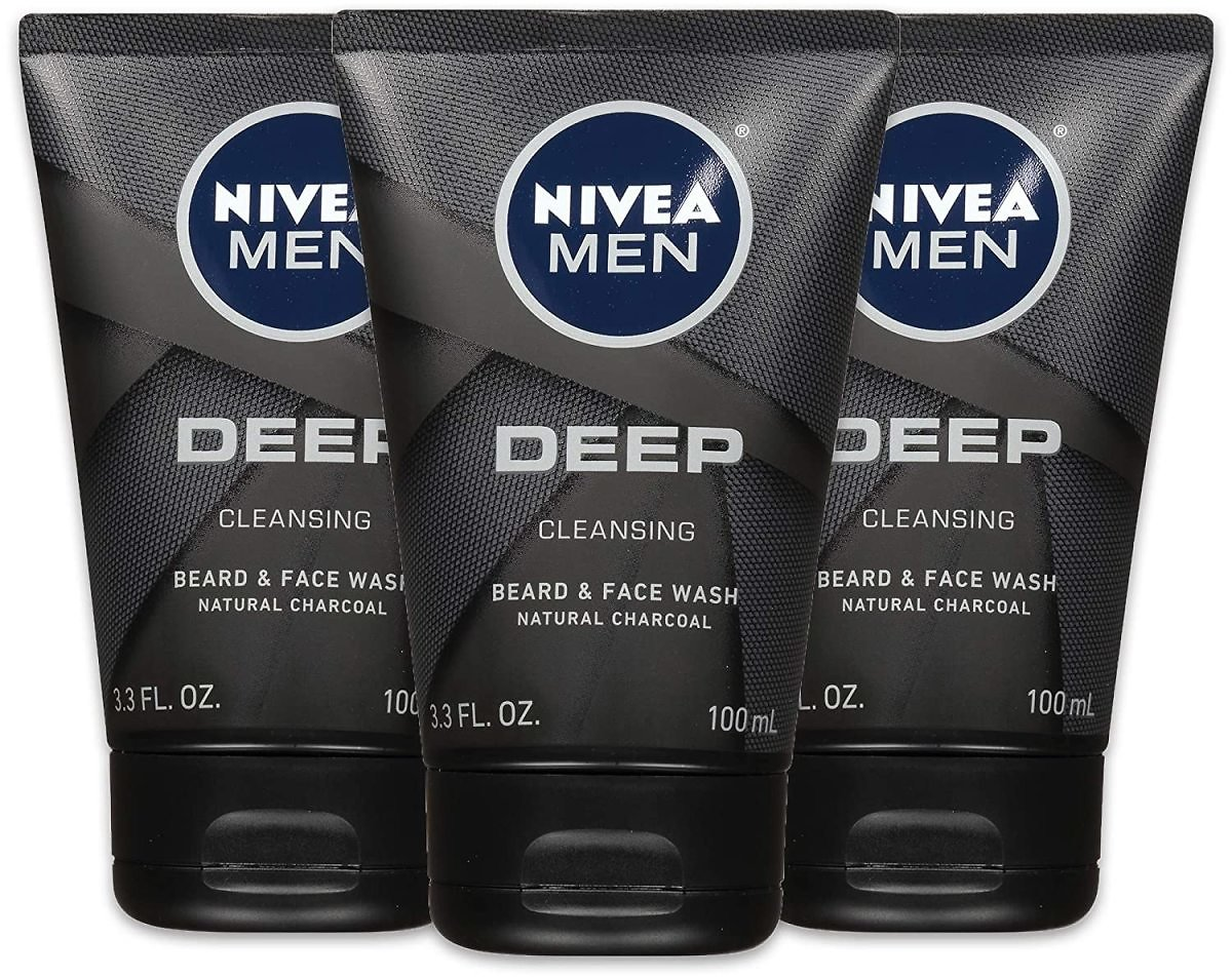 (Pack of 3) NIVEA Men Deep Cleansing Beard & Face Wash - Subscribe & Save