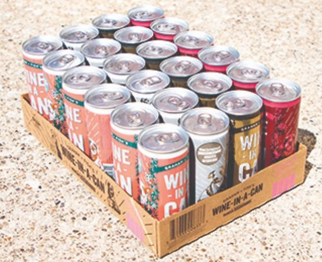 24 Cans of Graham & Fisk's Wine + Free Shipping
