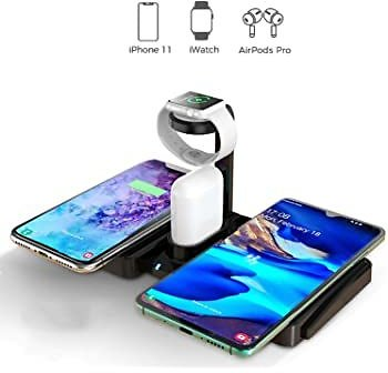 Keyiyou Wireless Charging Station,4 in 1 for Apple / Samsung