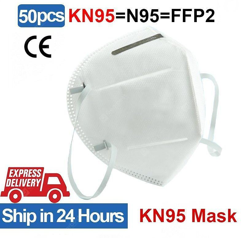 DHL 50pcs KN95 Protective Mask N95 FFP2 Standard Dust-proof Disposable Face Mask Sale, Price & Reviews | Gearbest