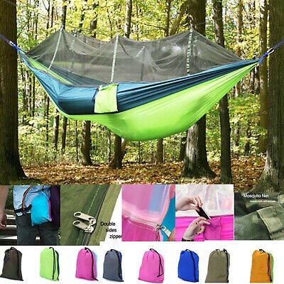 FREE SHIPPING /Outdoor Camping Double Mosquito Net Hammock Tent Chair Nylon Hanging Bed Swing