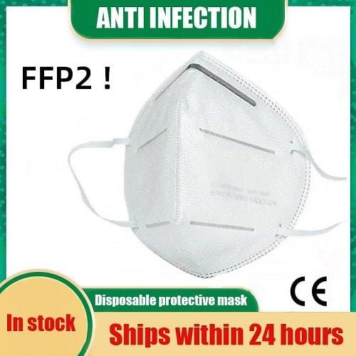 10pcs FFP2 CE Certification Face Mask N95 KN95 Mouth Mask Anti Smog Strong Protective