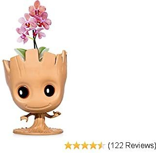 """""""I Am Groot"""" Flower Pot: Cute Decorative Planter Pot Can Also Be Used As Pens Holder, Storage Container Or DIY Indoor Plant Growing 