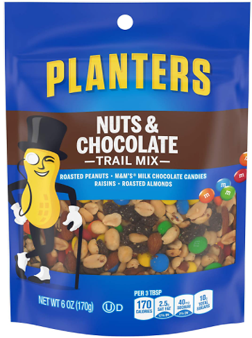 Planters Nuts & Chocolate M&Ms Trail Mix