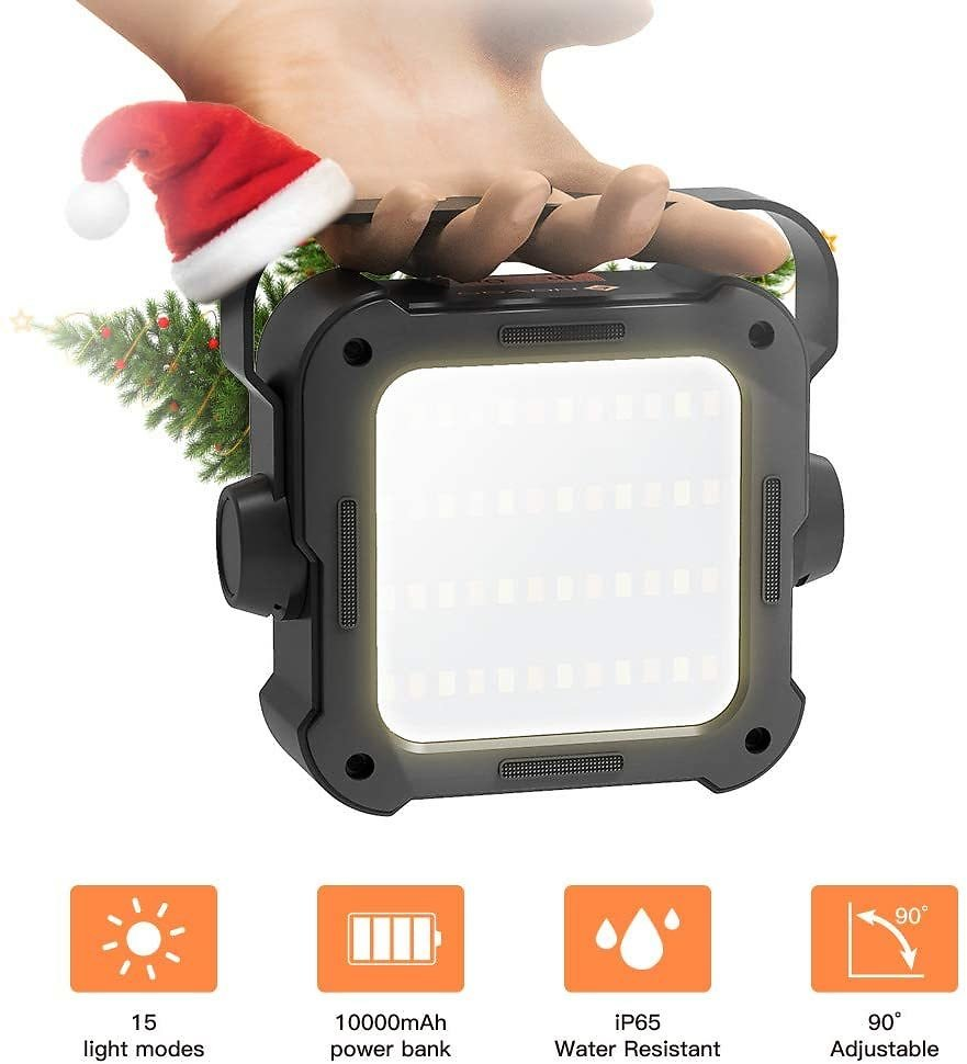 LED Rechargeable Floodlight Camping USB Portable Power Bank