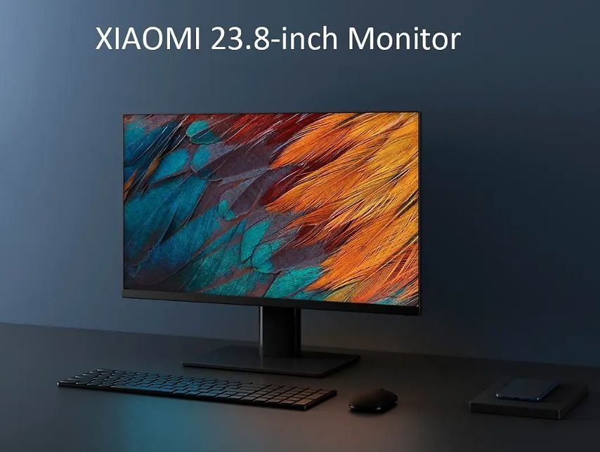 Original XIAOMI 23.8-Inch Office Gaming Monitor IPS Technology Hard Screen 178 ° Super Wide Viewing Angle 1080P High-Definition