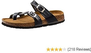 Sandals for Women Casual Adjustable Strap Buckle Open Toe Slippers Suede Footbed