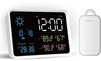 YUIHome Indoor Outdoor Digital Weather Station Temperature And Humidity Display Atmospheric Pressure Weather Forecast Alarm Clock from Xiaomi YoupinHome DecorfromHome and Gardenon Banggood.com