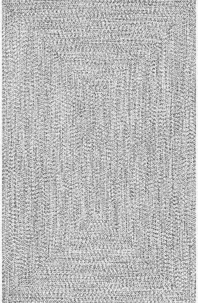 Handmade Braided Gray Indoor / Outdoor Area Rug