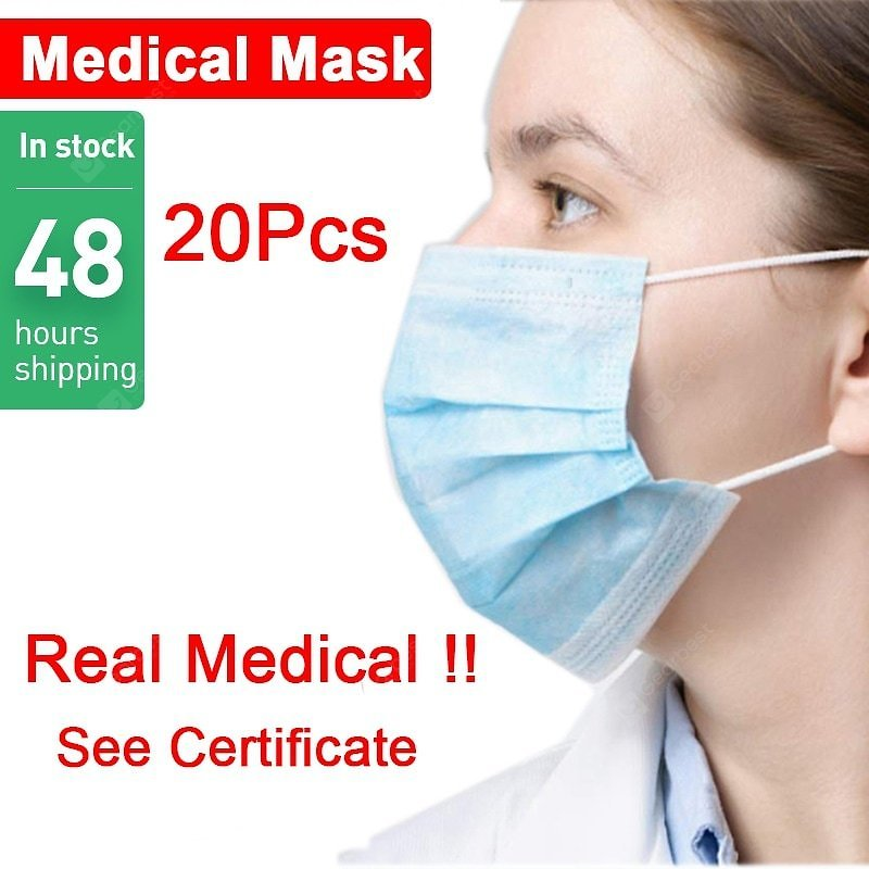 Disposable Medical Mask 3-Ply Anti-Dust Surgical Earloop Face Mouth Anti-bacteria Protective Masks Sale