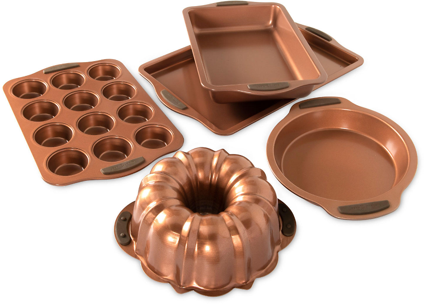 Nordic Ware 5-Piece Copper Everyday Bakeware Set