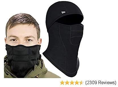 Self Pro Face Mask Ultimate Protection from Aerosols, Dust & Elements - 6 Ways to Wear Black