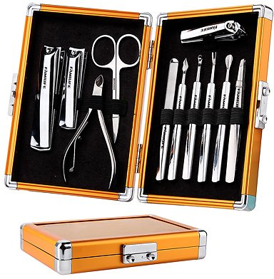 40% Off On FAMILIFE Manicure Set, 11pcs Stainless Steel Manicure Pedicure Kit Men Father