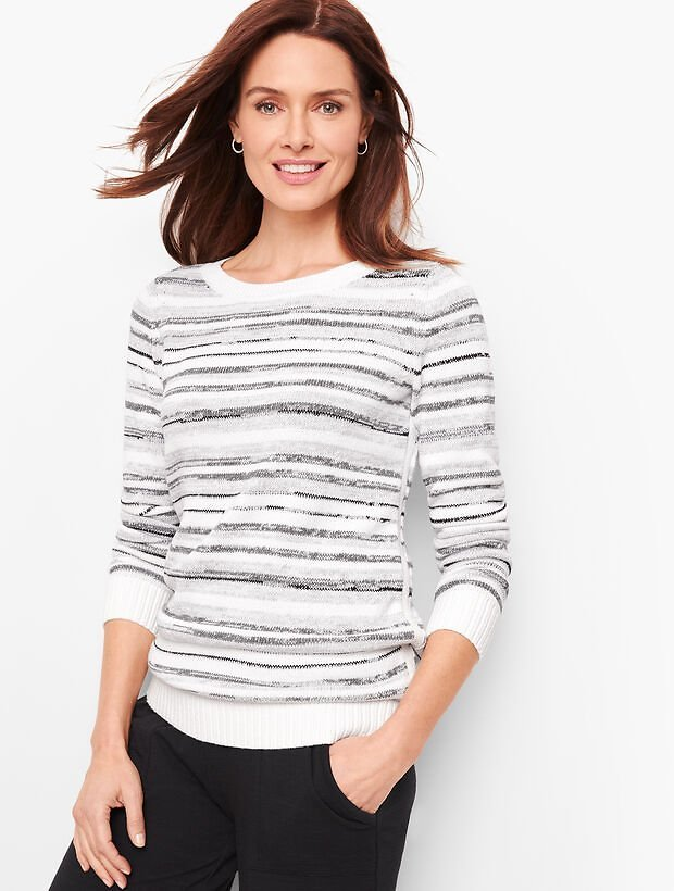 Mixed Yarn Stripe Sweater