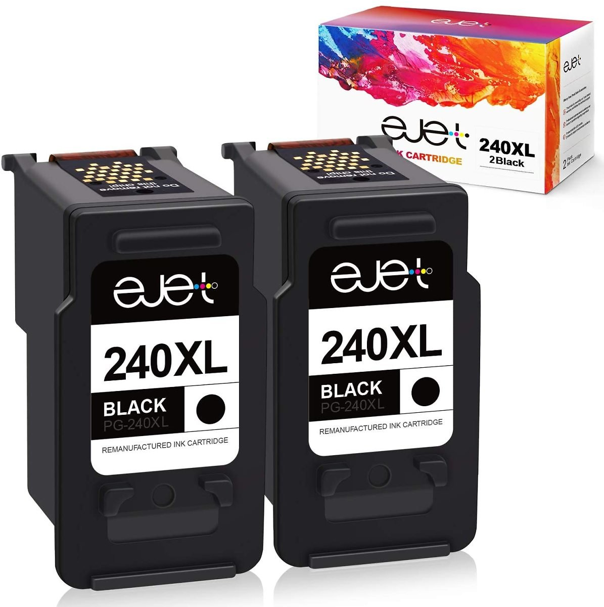 Ejet Remanufactured Ink Cartridge Replacement for Canon and Pixma