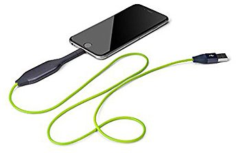 Emergency Backup IPhone/iPad Charging Cable @ Sharper Image