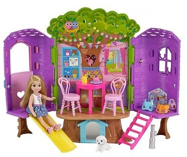 Buy One Get One 50% OFF-Barbie Chelsea Doll and Treehouse Playset