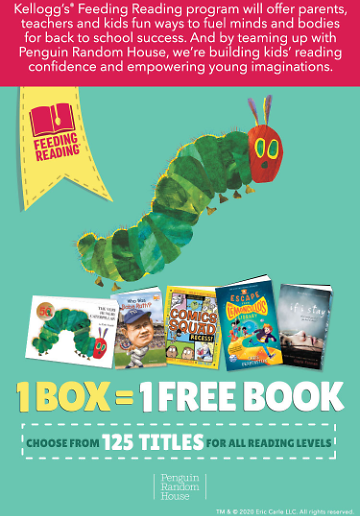 Up to 10 Free Kids Books w/ Kellogg's Products