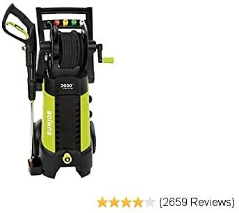 33% Off Sun Joe SPX3001 2030 PSI 1.76 GPM 14.5 AMP Electric Pressure Washer with Hose Reel, Green