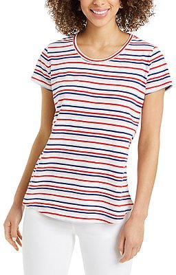 Style & Co Striped Tee, Created for Macy's & Reviews - Tops - Women
