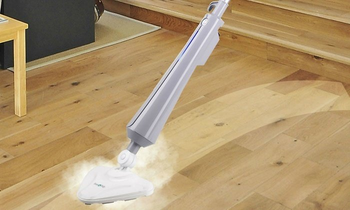 True & Tidy STM-300 Multi-Surface Steam Mop with Carpet Glider