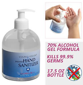 30% OFF 70% Alcohol Instant Hand Sanitizer Gel Antiseptic, Kill 99.99% Germs, 16.9 Fl Oz