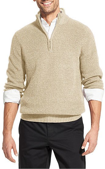 IZOD Holiday Mock Neck Long Sleeve Knit Pullover Sweater