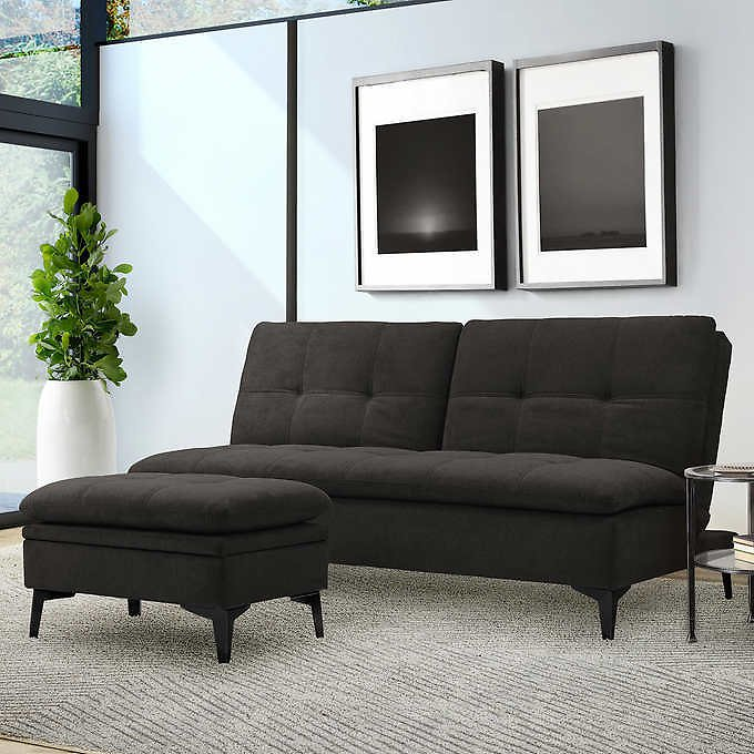 Sealy Port Townsend Convertible Sofa with Storage Ottoman