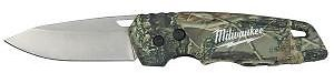 Milwaukee FASTBACK Camo Stainless Steel Folding Knife with 2.95 In. Blade-48-22-1524
